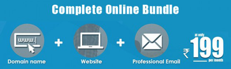 "Introducing ""Complete Online Bundle""- Domain + Website + Microsoft Exchange Email"