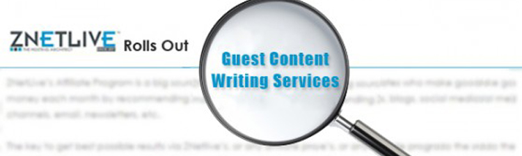 ZNetLive Rolls Out 'Guest Content Writing' Services for Affiliates
