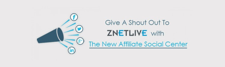 New Social Media Center for ZNetLive Affiliates
