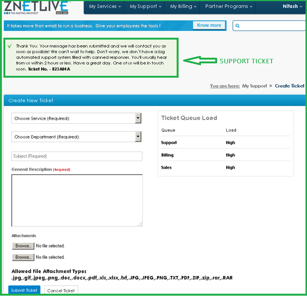 Image for Support Ticket