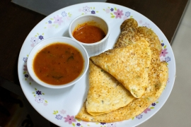 Oats Dosa healthy tiffin recipe for kids in 2018