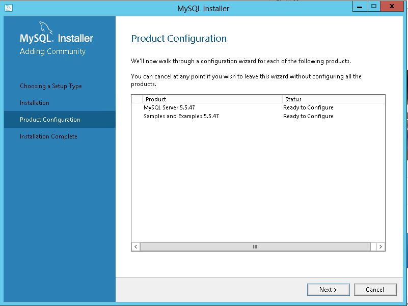 product-configure in PHP for windows 10