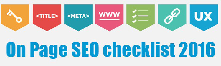 Website On page SEO Checklist for 2016