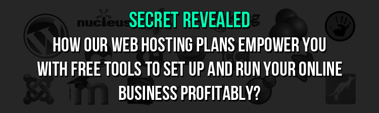 The secret revealed: How our web hosting plans empower you with free tools to set up and run your online business profitably?