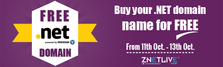 Get FREE .NET Domain Name at ZNetLive