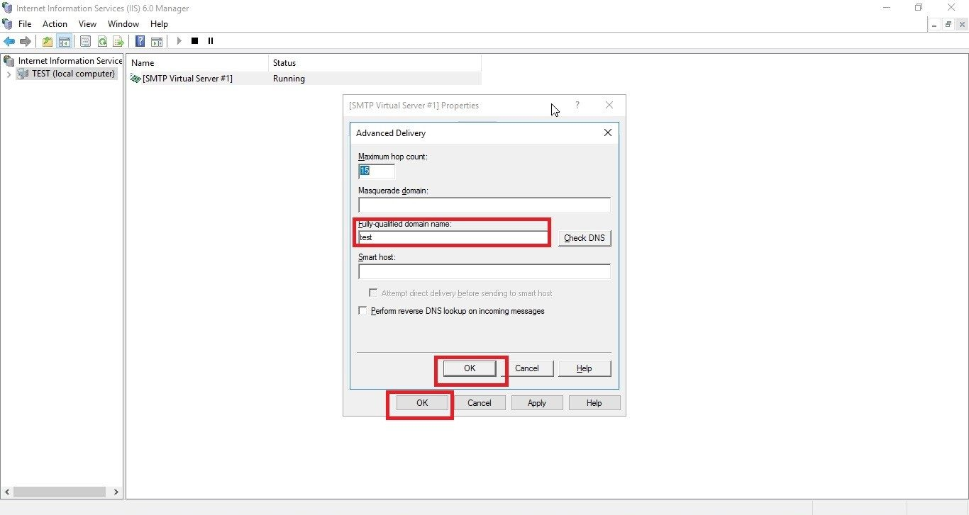 Step by step tutorial on how to configure SMTP server in Windows server 2016 22