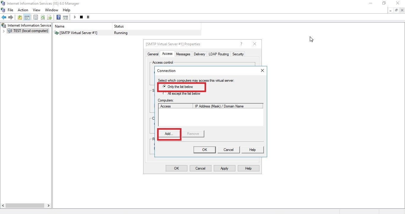 How to Configure SMTP Server in Windows Server 2016