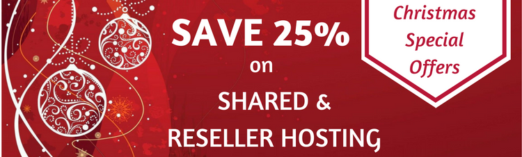 ZNetLive unveils Christmas Offers 2016 – Flat 25% discount on Shared and Reseller Hosting