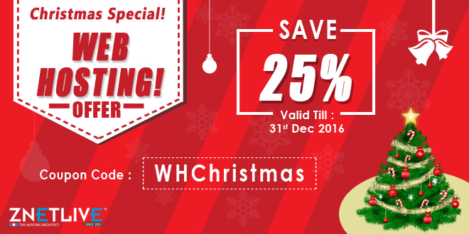 Christmas Web Hosting Offers and Deals by ZNetLive