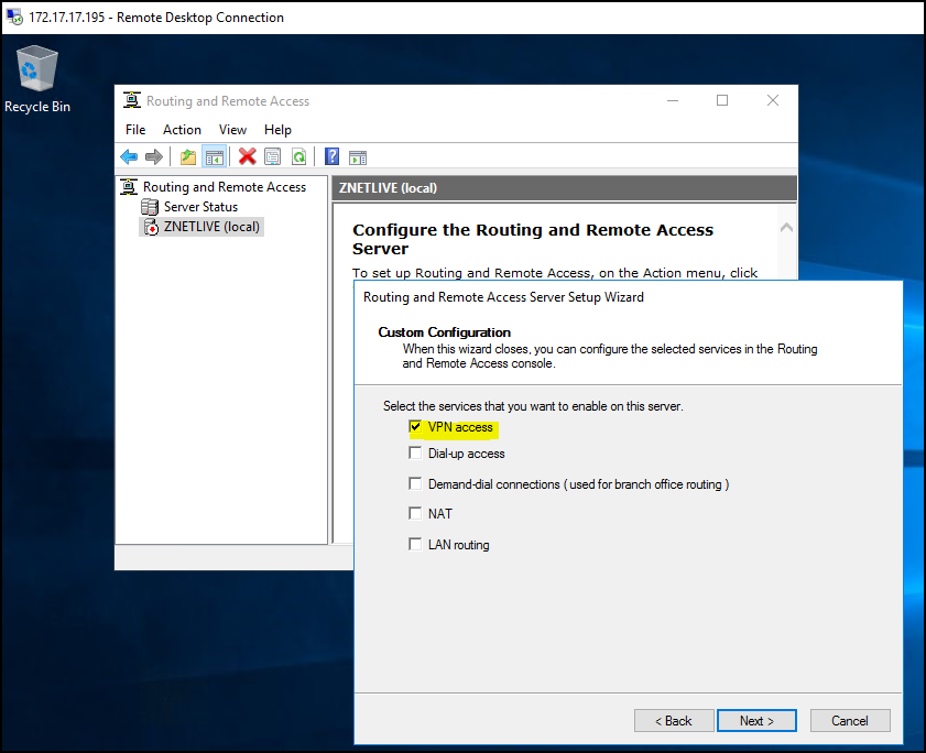 How to configure VPN on Windows Server 2019? 8