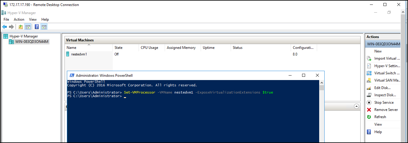 How to run Hyper-V in a Virtual Machine with Nested Virtualization? 3