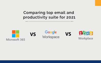 Microsoft 365 Vs Google Workspace Vs Zoho Workplace: top email and productivity suites in 2021