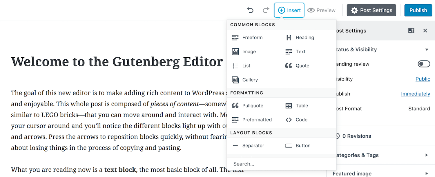Everything you need to know about Gutenberg— the new WordPress editor 1