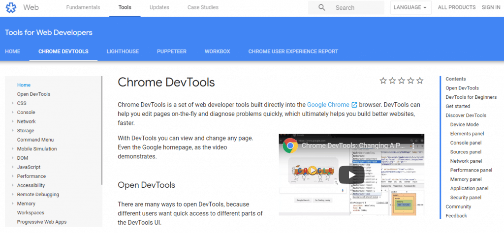 Google-Chrome-Dev-Tools