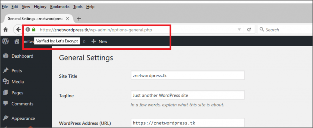 WordPress-Setting-URL