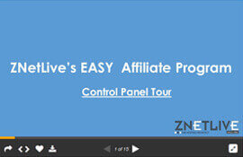 Control Panel Tour- ZNetLive's Web Hosting Affiliate Program (PPT)