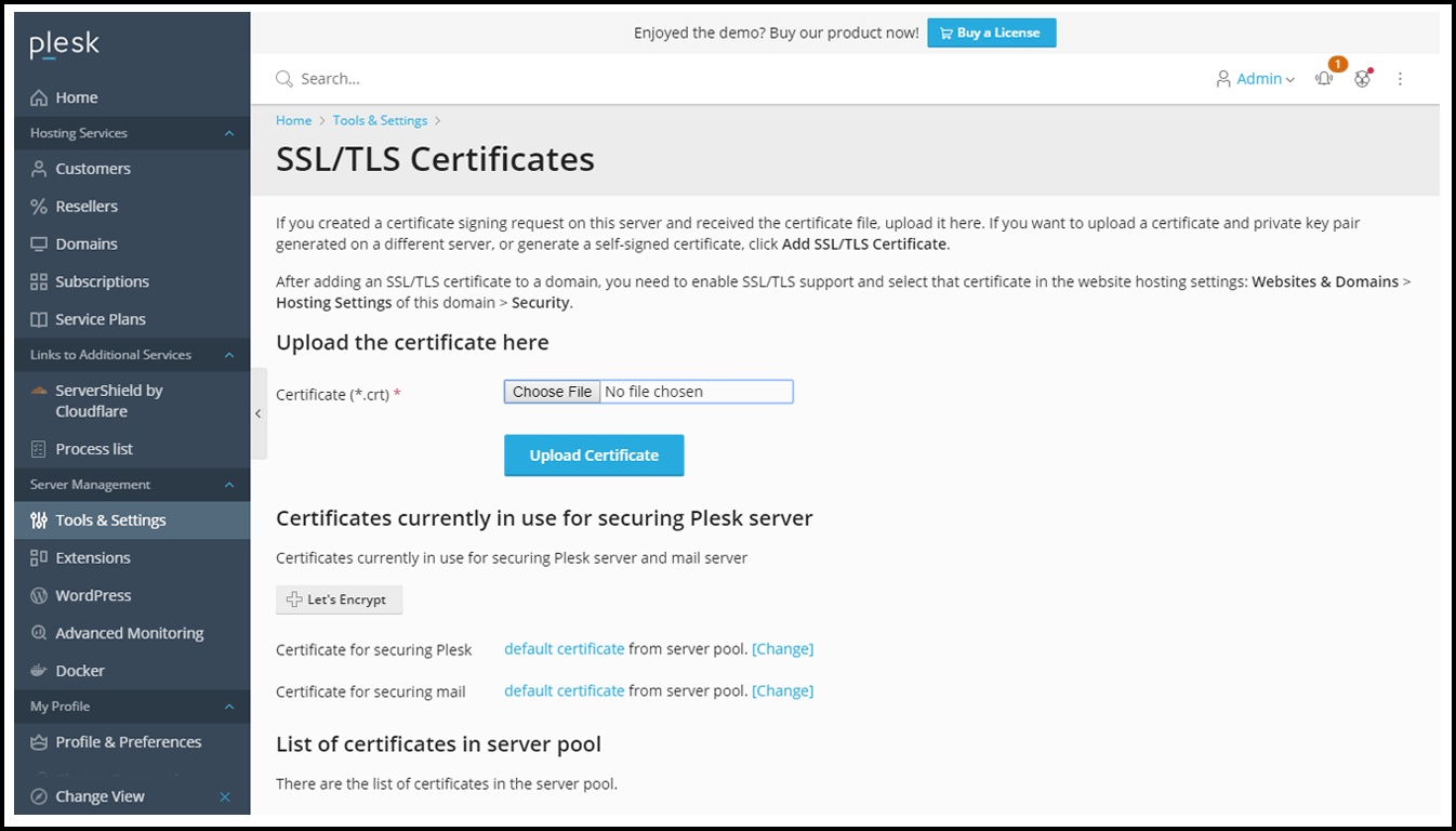 SSL Certificate Manager