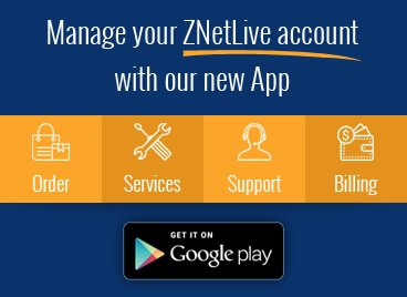 ZNetLive - Best Web Hosting Mobile App